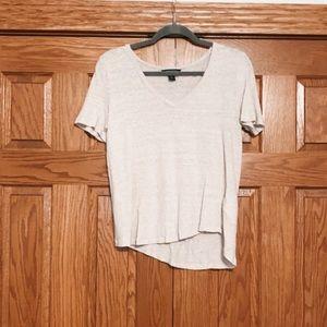 light cream v-neck T-shirt